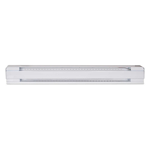 48-inch 1000W 240V Electric Baseboard Heater in White