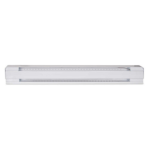 Baseboard white 750 watts 240 volts