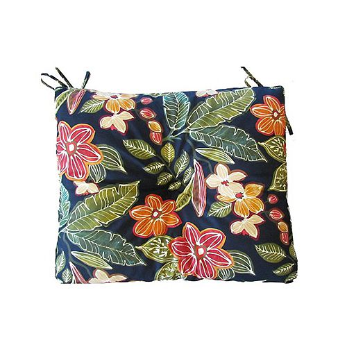 17 x 18 x 4.5 inch Outdoor Seat Cushion in Floral Multi-Colour