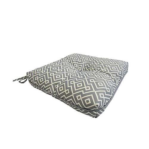 17 x 18 x 4.5 inch Outdoor Seat Cushion with Piping in Grey