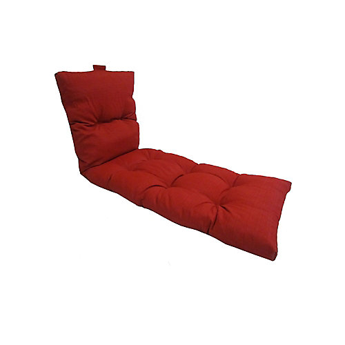 22 x 70 x 4 inch Patio Chaise Lounge Cushion in Red
