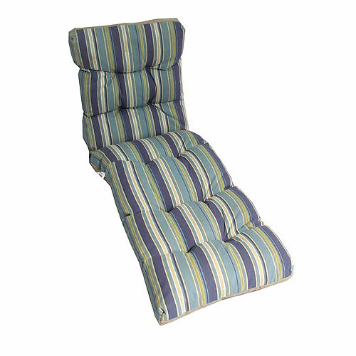 Reversible Chaise Lounge Patio Cushion in Multi Color