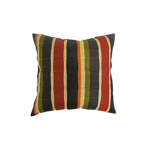 Bozanto Inc. 16 x 16 x 6 inch Outdoor Conversation Chair Toss Cushion in Multi-Colour Stripe