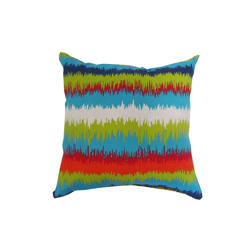Bozanto Inc. 16 x 16 x 16 inch Outdoor Conversation Chair Toss Cushion with Multi-Colour Pattern