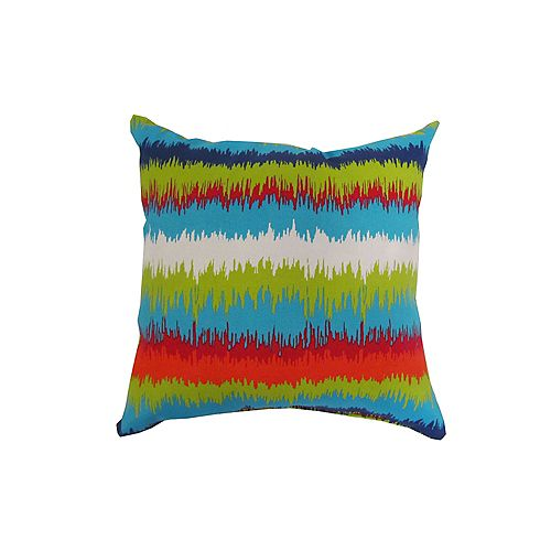 16 x 16 x 16 inch Outdoor Conversation Chair Toss Cushion with Multi-Colour Pattern