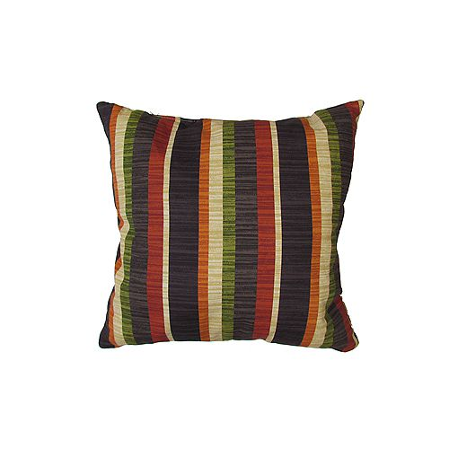 Bozanto Inc. 16 x 16 x 6 inch Outdoor Conversation Chair Toss Cushion with Multi-Colour Stripe Pattern