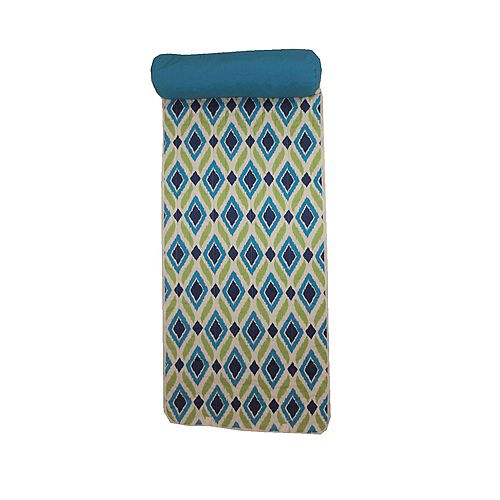 Beach Mat with Pillow in Diamond Pattern