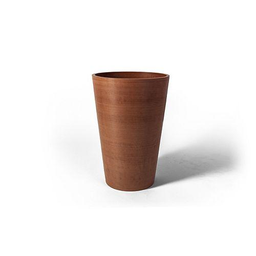 Algreen Products Valencia 12 1/4-inch x 18-inch H Round Planter Pot in Textured Terra Cotta