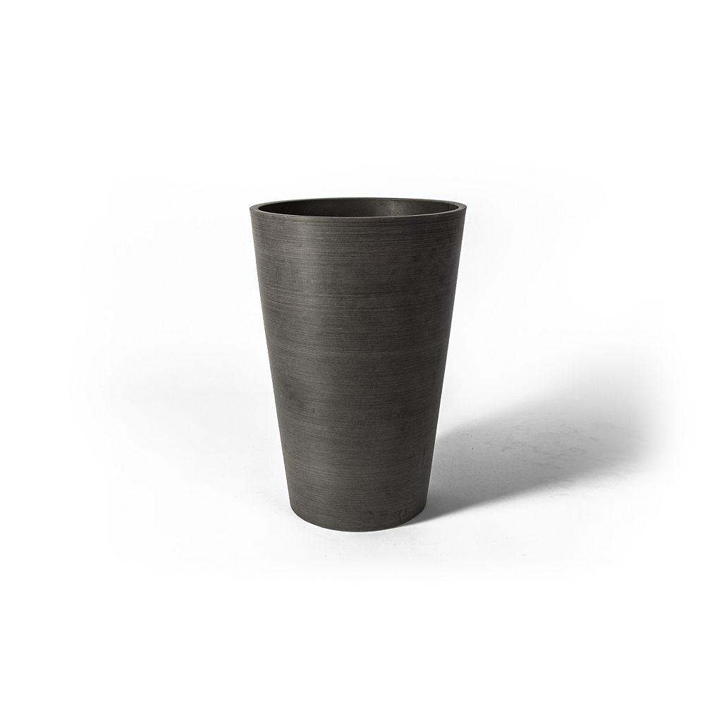 Algreen Products Pot de jardinière rond Valencia Algreen, 10 po x 12,75 po, charbon texturé