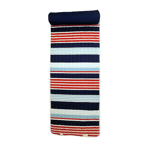 Beach Mat with Pillow in Multi-Colour Stripe
