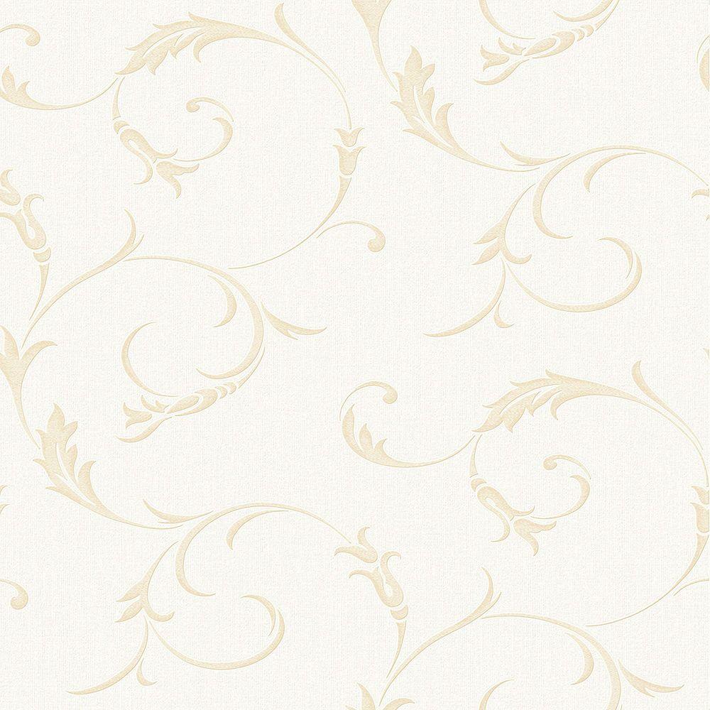 Graham & Brown Athena White/Gold Wallpaper