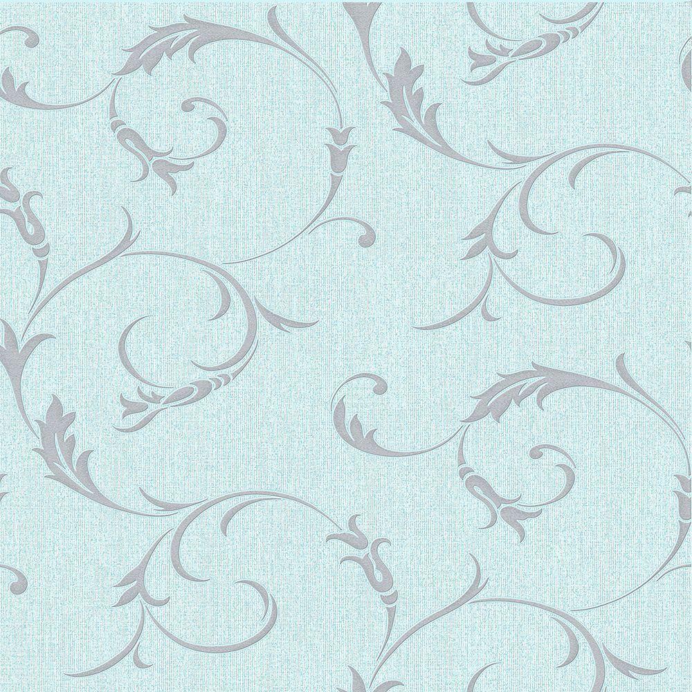 Graham & Brown Athena Duck Egg Wallpaper