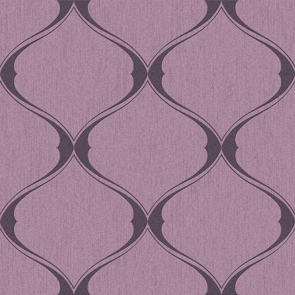 Graham & Brown Olympus Plum Wallpaper