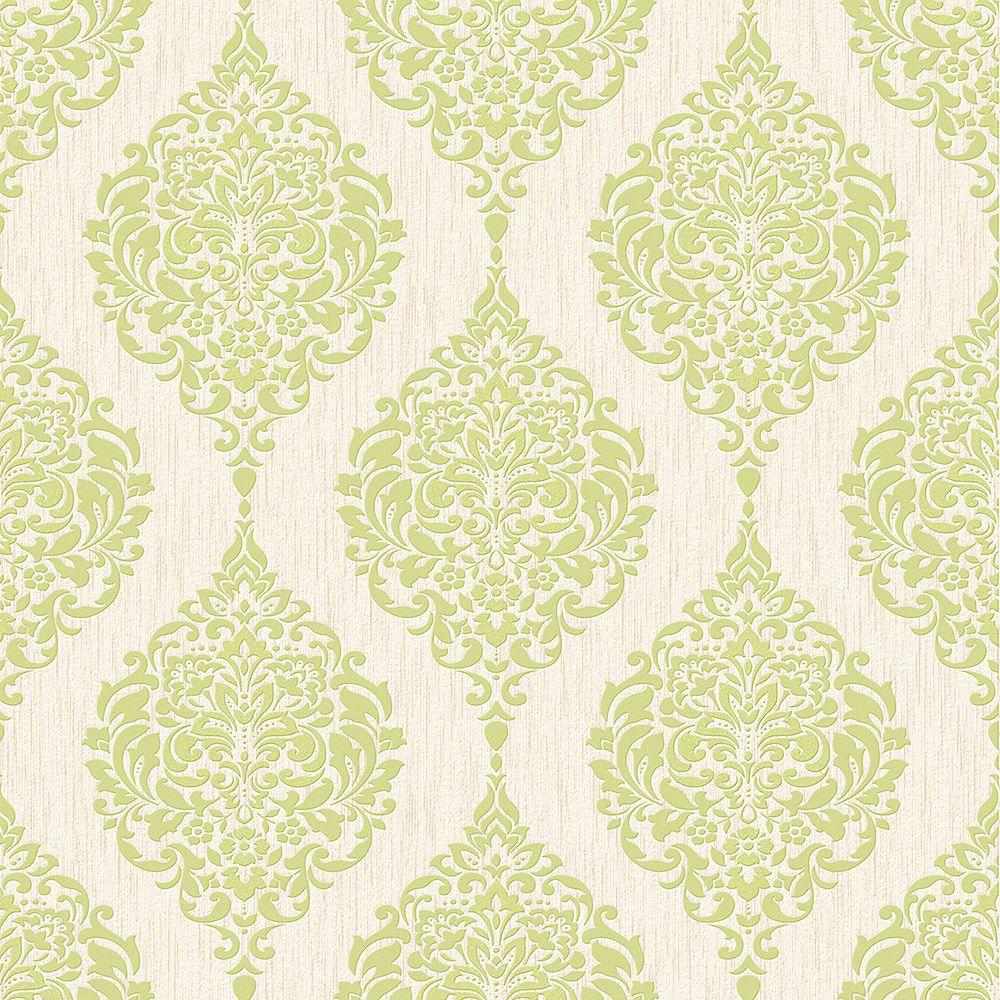 Graham & Brown Luna Papier Peint Vert/Crème