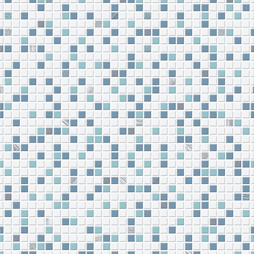 Graham & Brown Blue and White Checker Wallpaper