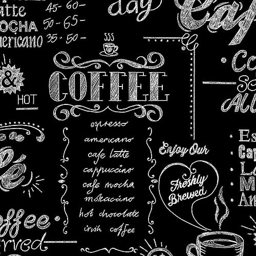 Coffee Shop Black/White Wallpaper