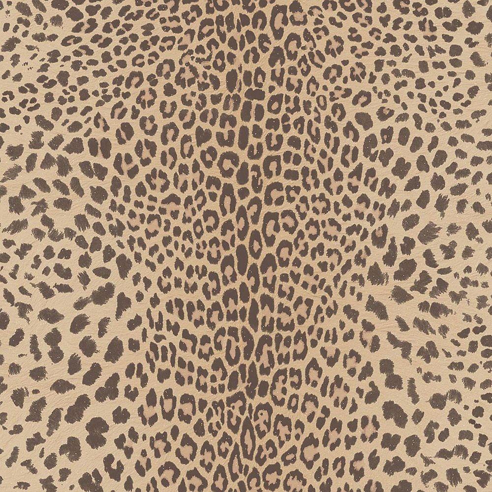 Graham & Brown Leopard Beige/Brown/Gold Wallpaper