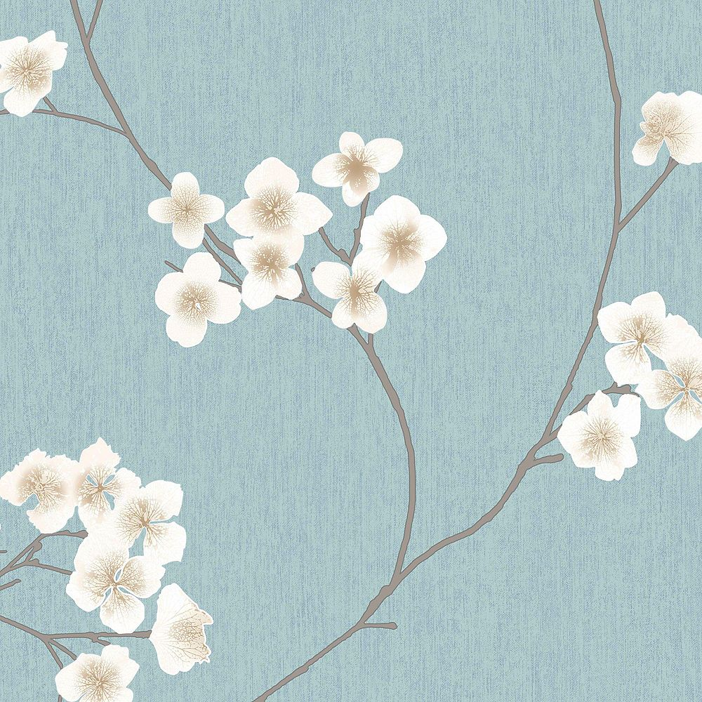 Graham & Brown Blue and Cream Radiance Wallpaper
