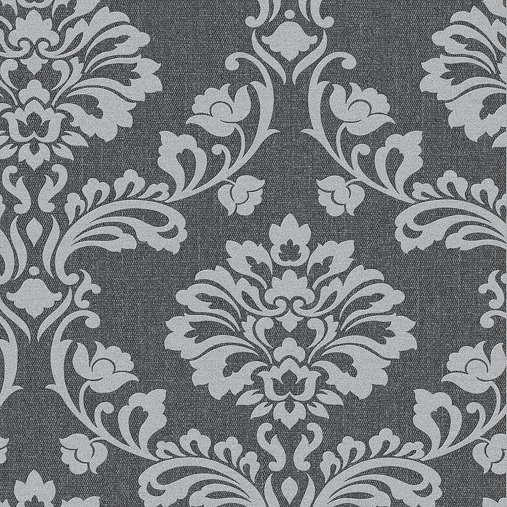 Graham & Brown Aurora Black/Grey Wallpaper