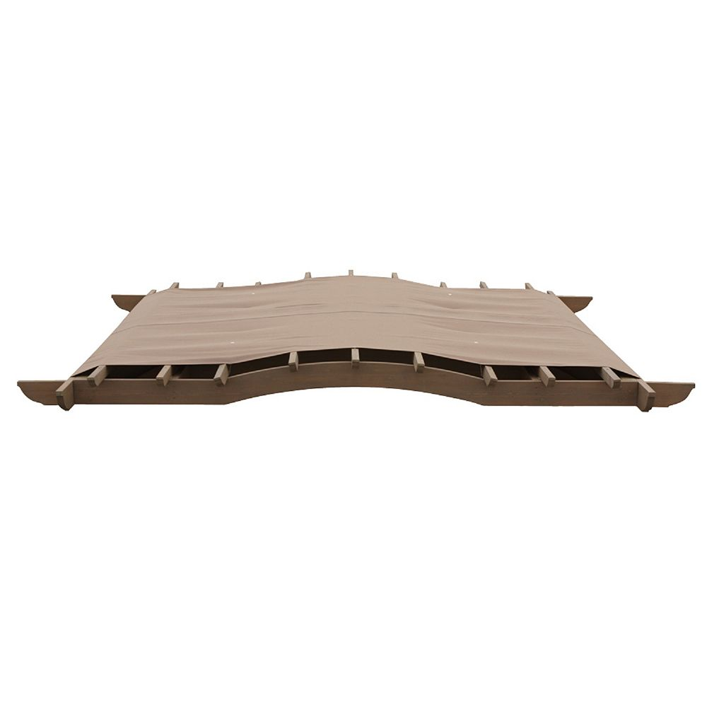 Yardistry 12' x 12' Snap-On Arched Roof Pergola Sunshade