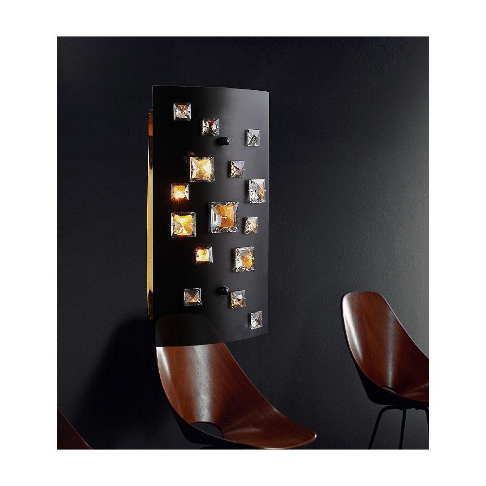CWI Lighting Applique murale à 2 lampes au fini noir