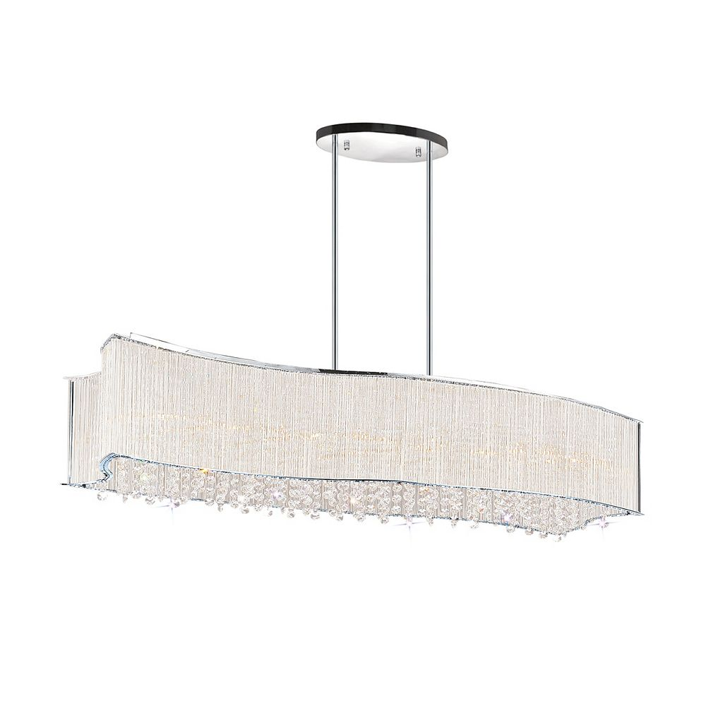 CWI Lighting 6 Light Chandelier With Clear Crystals