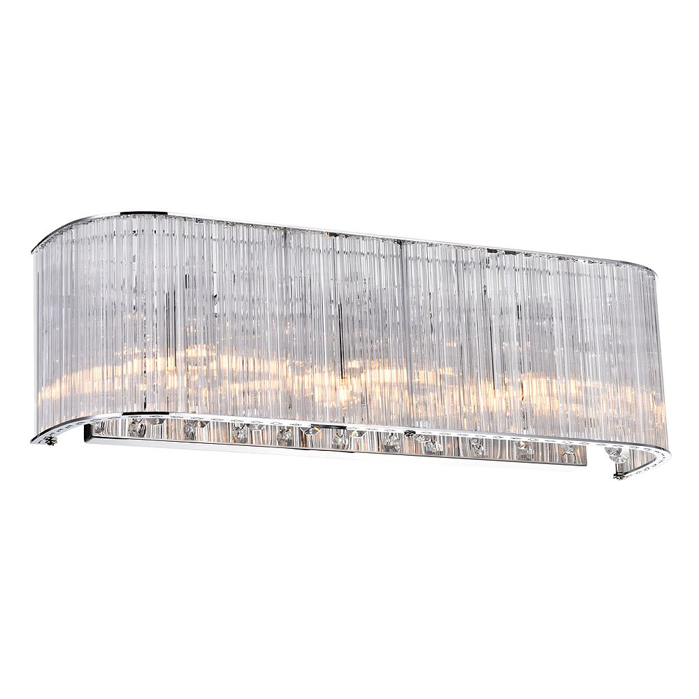 CWI Lighting 3 Light Wall Sconce With Clear Crystals