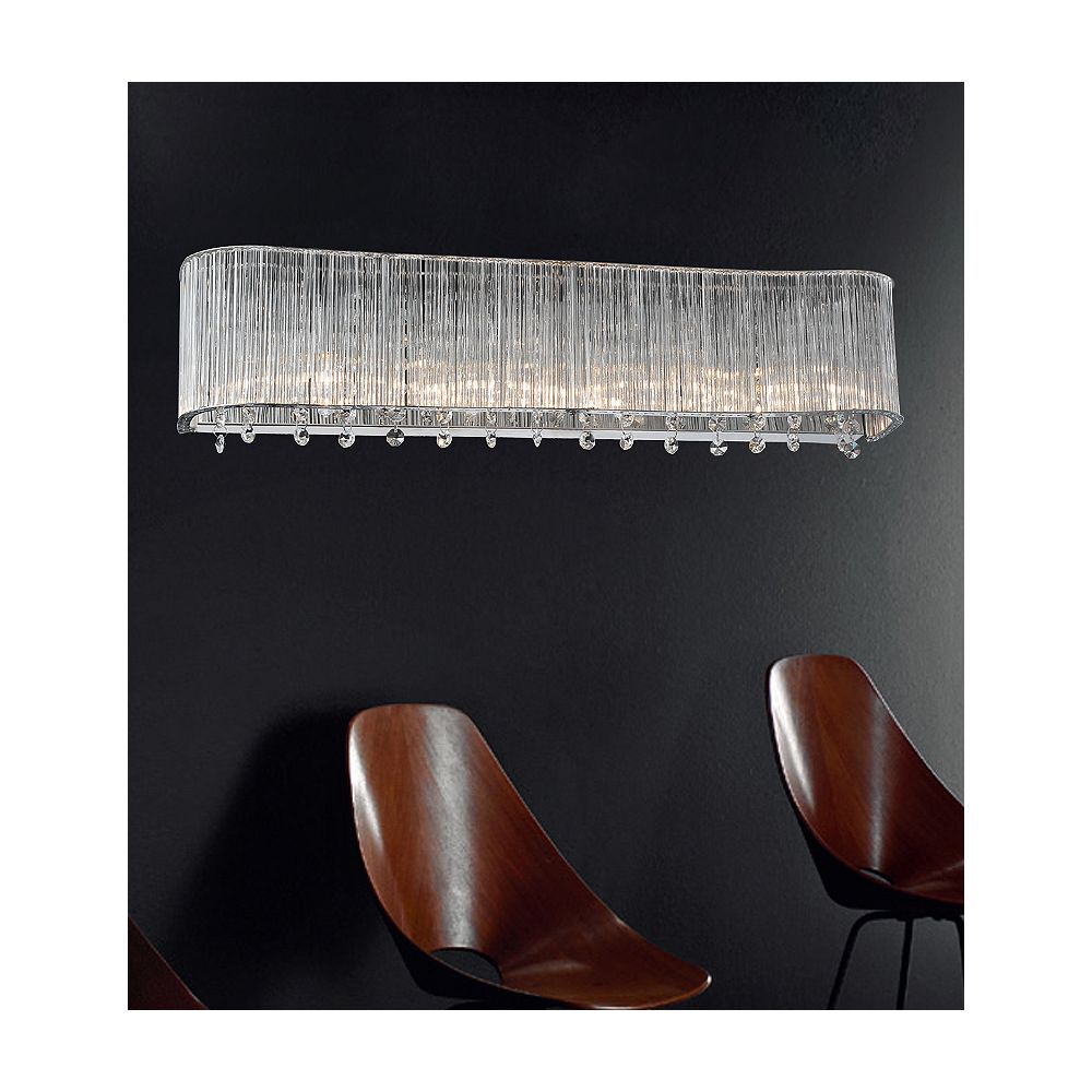 CWI Lighting 4 Light Wall Sconce With Clear Crystals