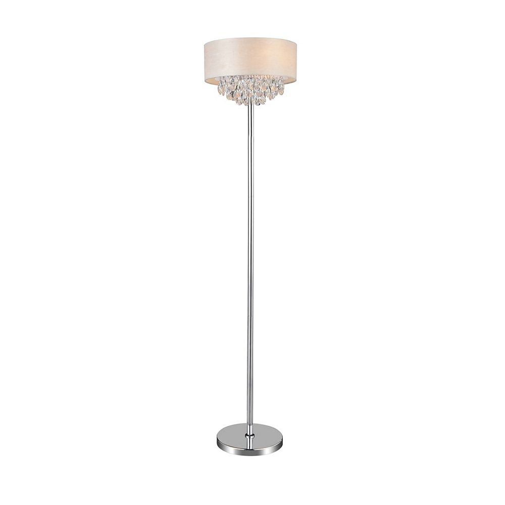 CWI Lighting 4 Light Floor Lamp With Off White Shade