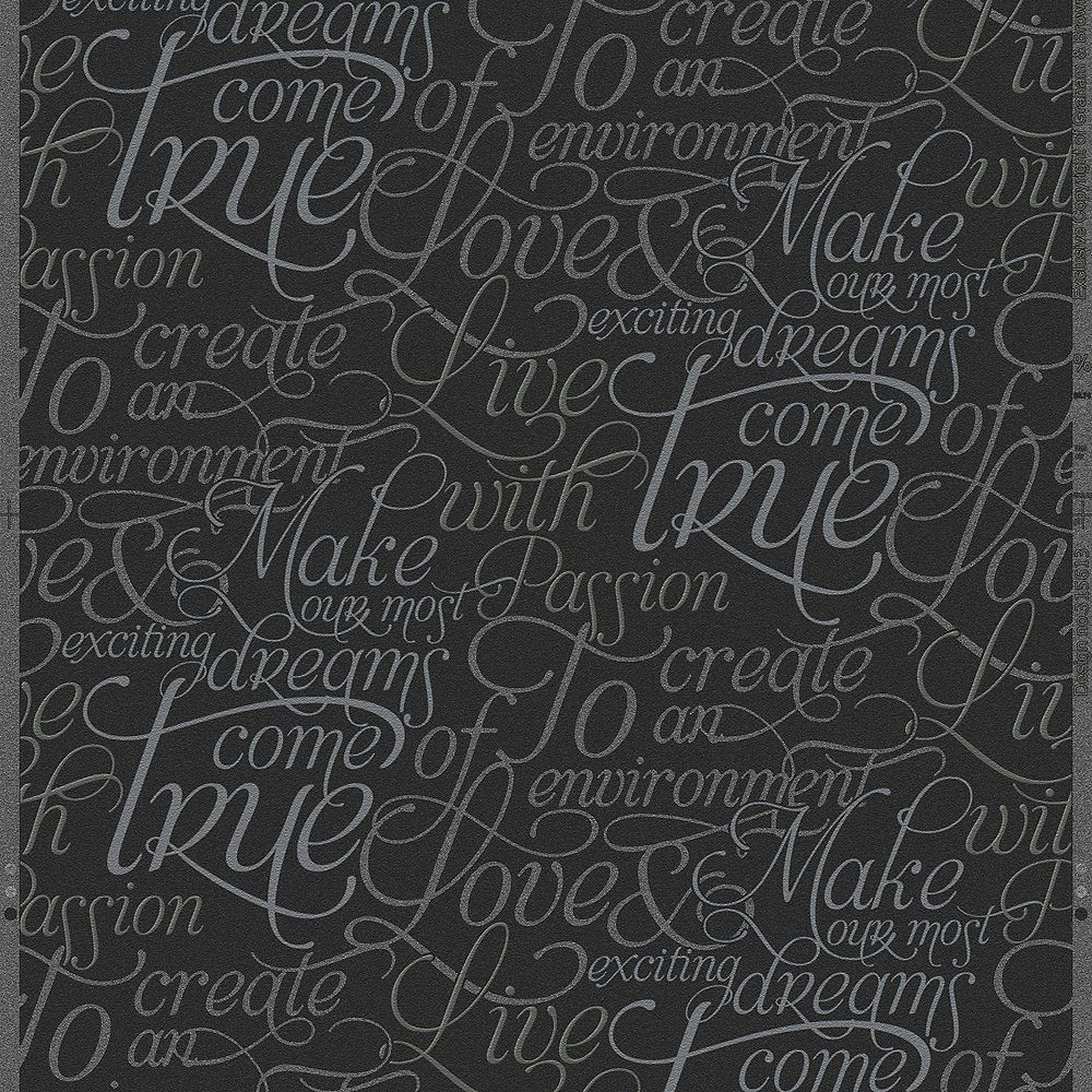 Graham & Brown Dreams Come True Black/Silver Wallpaper