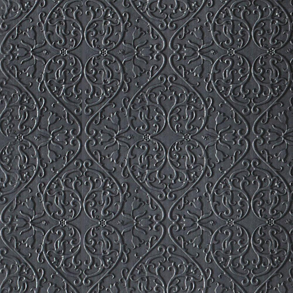 Graham & Brown Heart & Tulip Charcoal Wallpaper
