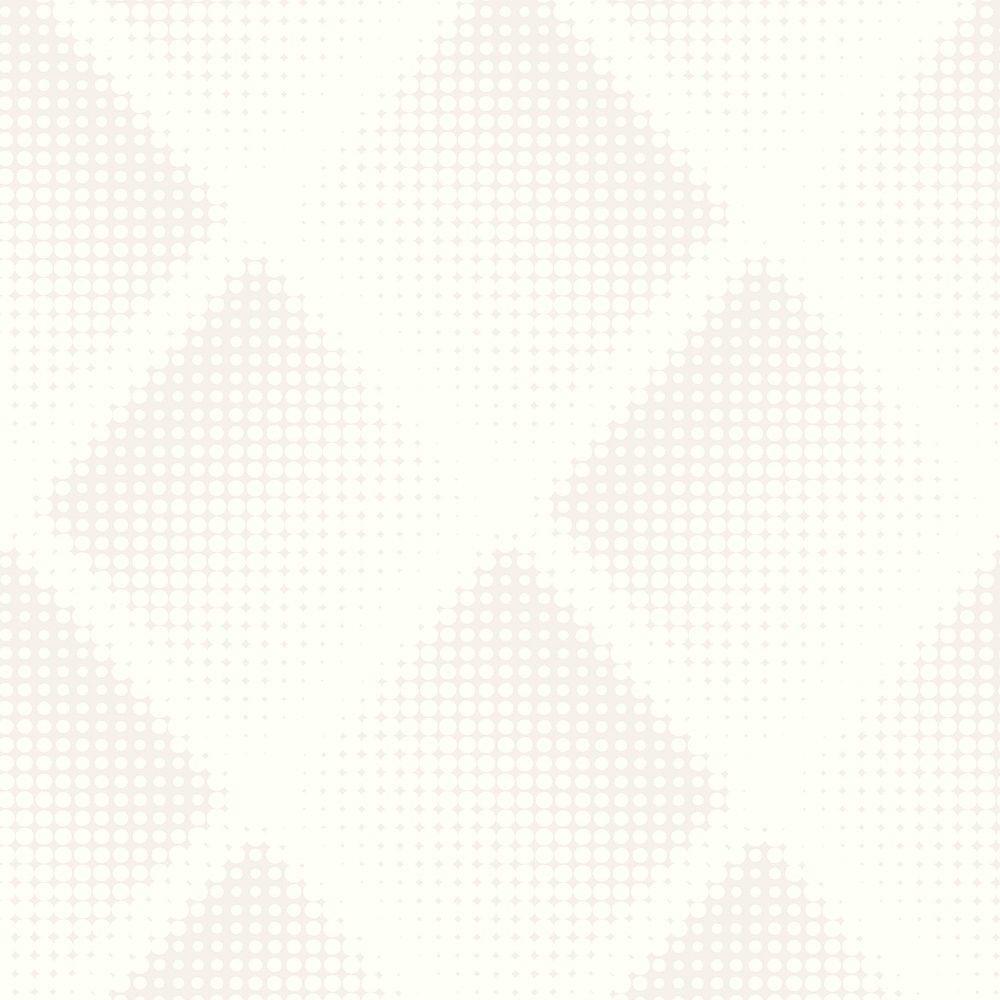 Graham & Brown Braille Chester White/Silver Wallpaper