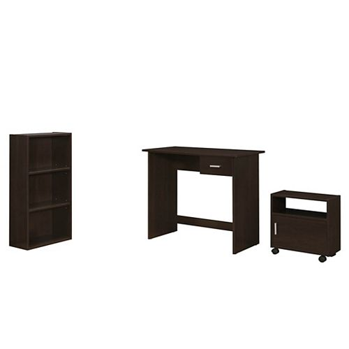 36-inch x 30-inch x 18-inch Standard Computer Desk in Brown