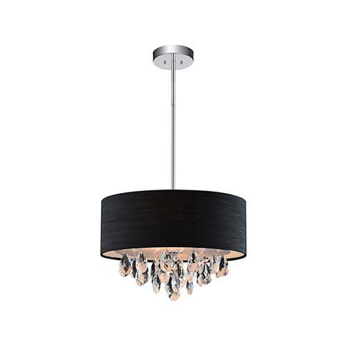 Mini suspension à 3 lampes avec abat-jour noir