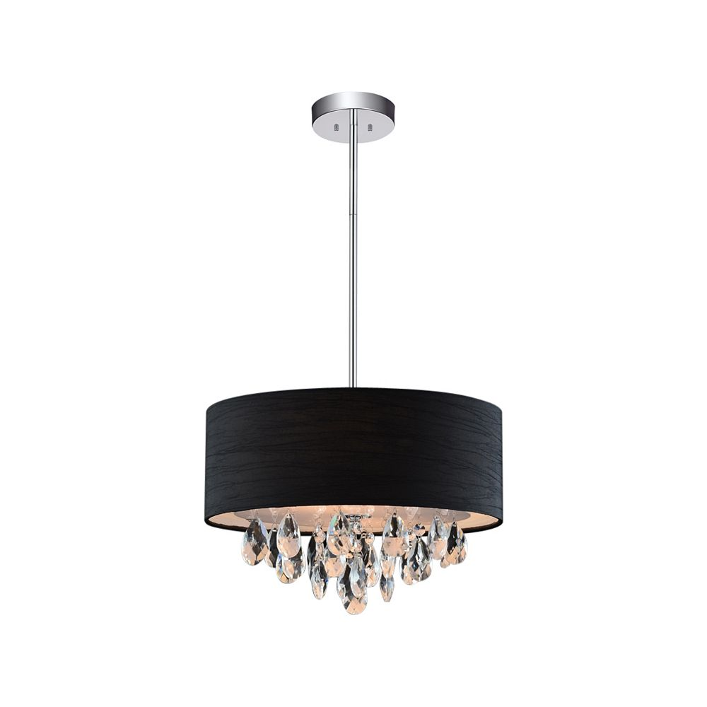 CWI Lighting 4 Light Chandelier With Black Shade