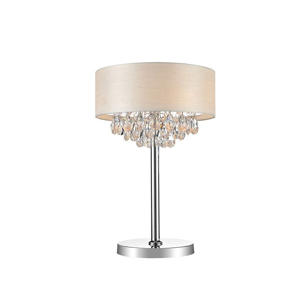 CWI Lighting 3 Light Table Lamp With Off White Shade