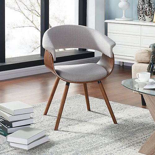 Holt Modern Occasional Cotton Accent Chair in Beige with Solid Pattern