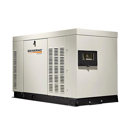 Génératrice de secours automatique triphasée refroidie par liquide, 27000watts,enceintealuminium