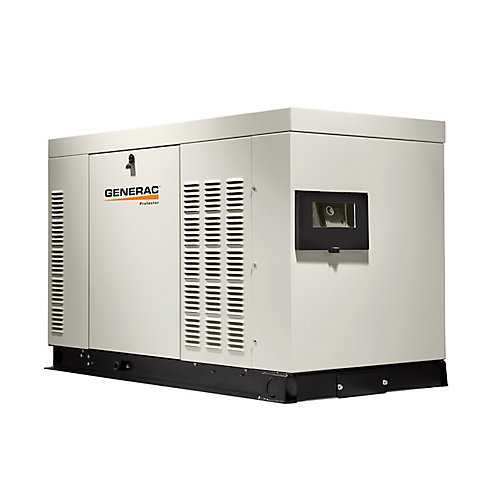 32,000W Liquid Cooled 120/240 Single Phase Automatic Standby Generator with Aluminum Enclosure