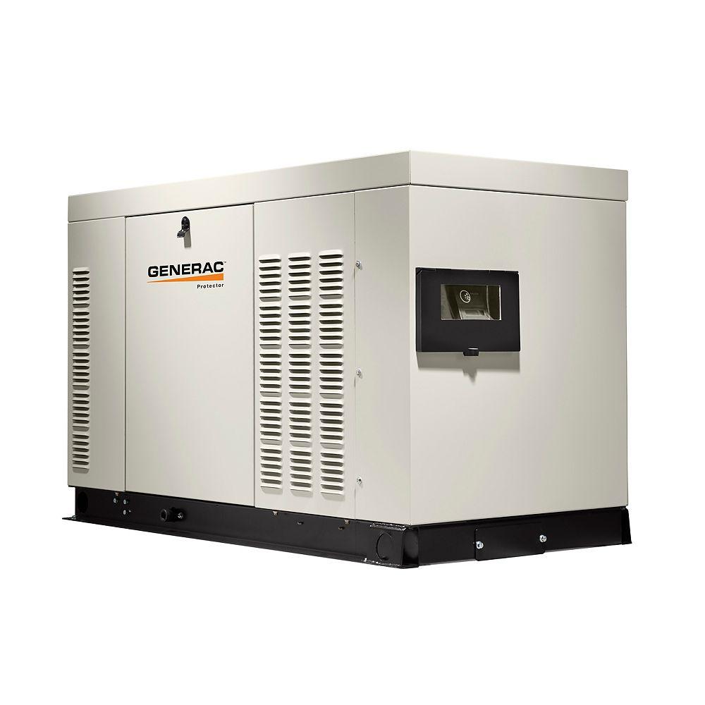 Generac Génératrice de secours automatique monophasée refroidie par liquide,32 000 watts, enceinte aluminium