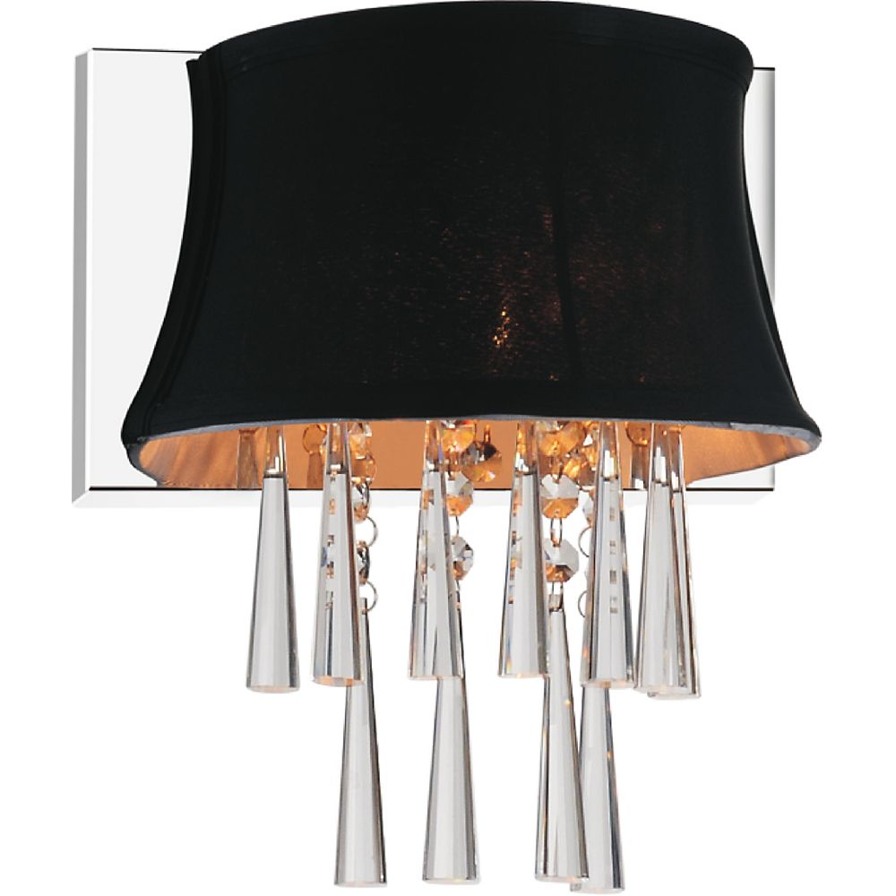 CWI Lighting 1 Light Wall Sconce With Black Shade