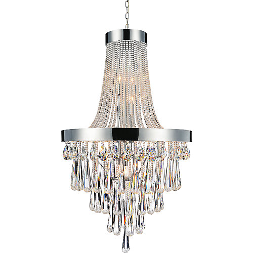 17-Light Chandelier with Clear Crystals