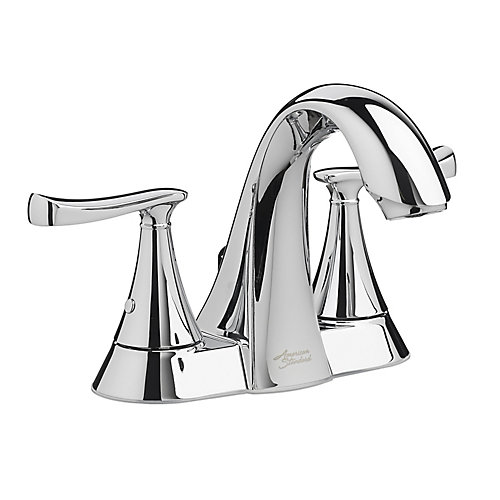 Chatfield Centerset (4-inch) 2-Handle High Arc Bathroom Faucet in Chrome with Lever Handles