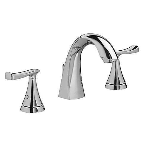 Chatfield Widespread (8-inch) 2-Handle High Arc Bathroom Faucet in Chrome with Lever Handles