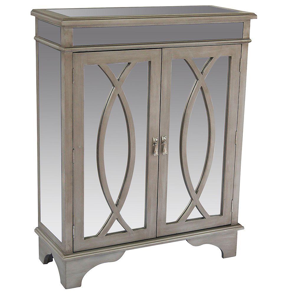 !nspire Fiona-Console Cabinet-Antique Silver