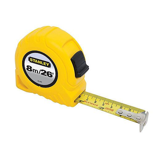 8m/26 ft. x 1-inch Tape Measure (Metric/English Scale)