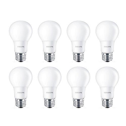 Philips 40W Equivalent Soft White (2700K) A19 LED Light Bulb (8-Pack)