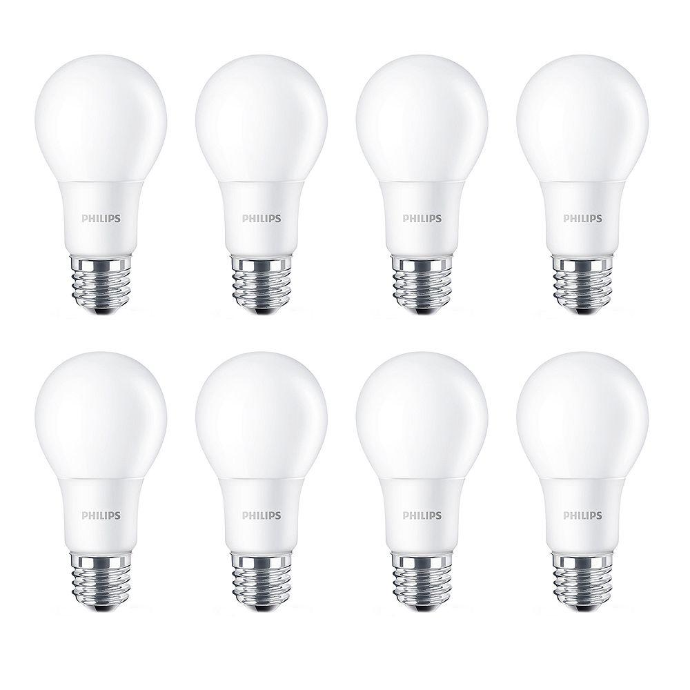 Philips 40W Equivalent Daylight (5000K) A19 LED Light Bulb (8-Pack)