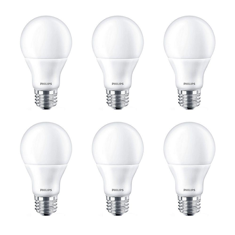 Philips 60W Equivalent Soft White (2700k) A19 LED Light Bulb (6-Pack)