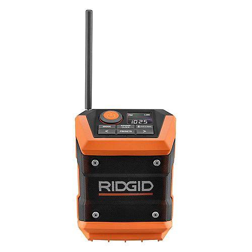 Mini-radio Bluetooth sans fil avec application Radio, 18V (outil seulement)